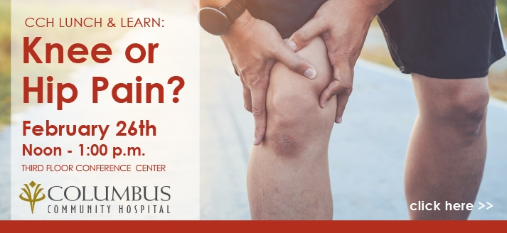 CCH Lunch and Learn Joint Pain