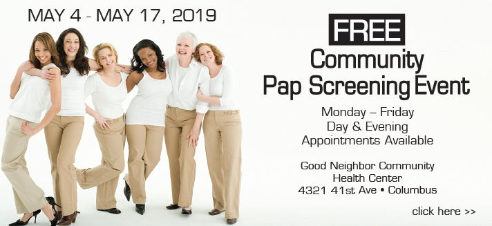 Free Pap Screening Event